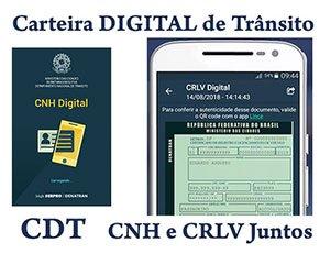 CNH e CRLV Digital Carteira CDT